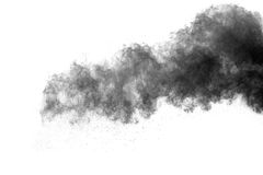 The particles of charcoal Stock Image
