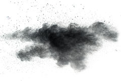 The particles of charcoal Stock Photo