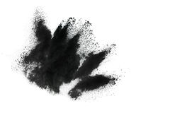 Particles of charcoal Royalty Free Stock Image