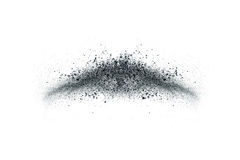 The particles of charcoal Stock Photos