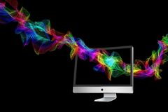 Particles, Color, Colorful, Monitor Royalty Free Stock Photo