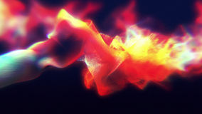 Particles of colored fume in air, 3d illustration Stock Image