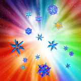 Particles on a colorful background Royalty Free Stock Image