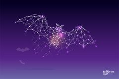The particles, geometric art, line and dot of bat Stock Photography