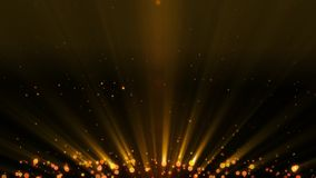 Particles gold glitter awards dust abstract background looped