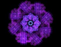 Free Particles Of Abstract Fractal Forms On The Subject Of Nuclear Physics Science And Graphic Design. Geometry Sacred Futuristic Quant Royalty Free Stock Photography - 111056427