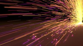 Particles sparks dots fireworks slow motion trails 3d illustration. Particles sparks dots fireworks slow motion trails 3d render Royalty Free Stock Images