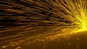 Particles sparks dots fireworks slow motion trails 3d illustration. Particles sparks dots fireworks slow motion trails 3d render Stock Photo