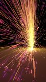 Particles sparks dots fireworks slow motion trails 3d illustration. Particles sparks dots fireworks slow motion trails 3d render Stock Photos