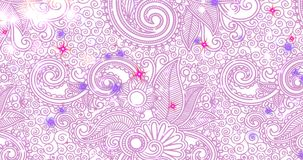 Particles - White, Lavender, Rose, Red Looping
