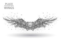 Particles of Wings,full enterprising across significance vector illustration. stock illustration