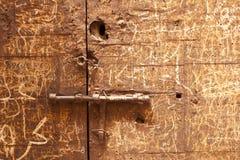 Particolar van een deur in het Paleis van Gr Badi Stock Foto