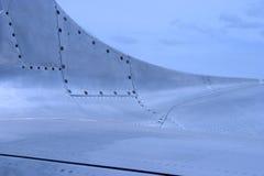 Particolare 2 della pelle dell'aeroplano del jet Fotografie Stock