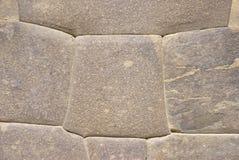 Particolare, alta qualità della parete di pietra del Inca Fotografie Stock
