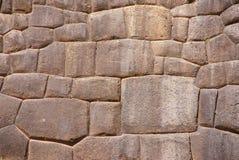 Particolare, alta qualità della parete di pietra del Inca Fotografia Stock Libera da Diritti