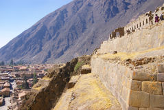 Particolare, alta qualità della pietra del Inca Immagini Stock