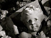 Particolare architettonico dell'angelo caduto Fotografia Stock Libera da Diritti