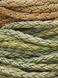 Particolare arrotolato della corda Fotografia Stock Libera da Diritti