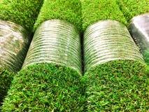 Particolare artificiale dell'erba immagini stock libere da diritti