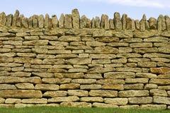 Particolare asciutto della parete di pietra Fotografie Stock