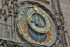 Particolare astronomico dell'orologio Città Vecchia Corridoio praga Repubblica ceca Fotografia Stock Libera da Diritti