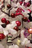 Particolare bianco dell'albero di Natale Immagini Stock Libere da Diritti
