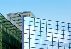 Particolare blu del grattacielo Immagini Stock Libere da Diritti