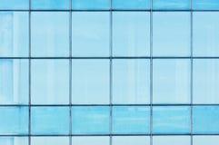 Particolare blu del primo piano della finestra di vetro Immagini Stock Libere da Diritti