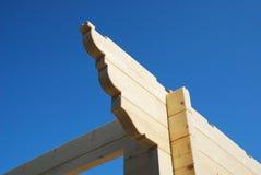 Particolare, Camera di legno parzialmente costruita Immagine Stock