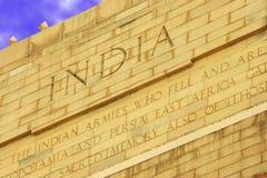 Particolare, cancello dell'India, Nuova Delhi, India Fotografia Stock Libera da Diritti