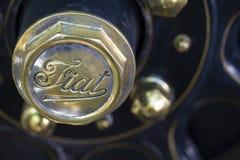 Particolare classico dell'automobile di Fiat Immagini Stock