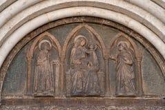 Particolare dall'entrata della cattedrale Fotografia Stock Libera da Diritti
