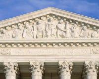 Particolare dalla costruzione della Corte suprema immagine stock