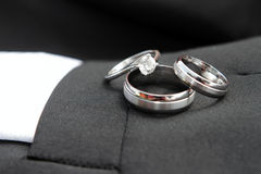 Particolare degli anelli di cerimonia nuziale Immagine Stock