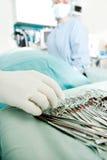 Particolare degli strumenti di chirurgia Immagine Stock Libera da Diritti
