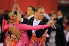 Particolare dei danzatori ballrooming Immagini Stock