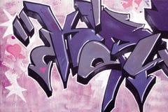 Particolare dei graffiti Immagine Stock