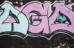 Dettaglio dei graffiti fotografia stock
