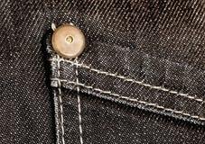 Particolare dei jeans Fotografia Stock Libera da Diritti