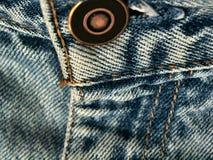 Particolare dei jeans Immagini Stock
