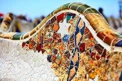 Particolare del banco da Gaudi Fotografia Stock Libera da Diritti