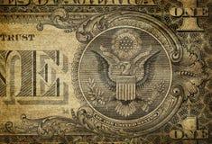 Particolare del Bill del dollaro Immagine Stock