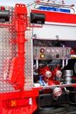 Particolare del camion dei vigili del fuoco Fotografia Stock