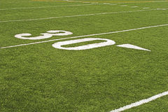 Particolare del campo di football americano Fotografia Stock