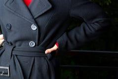 Particolare del cappotto fotografia stock libera da diritti