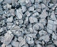 Particolare del carbone di legna per priorità bassa Fotografie Stock