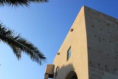 Particolare del castello di Alicante immagine stock
