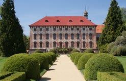 Particolare del castello di Libochovice Fotografia Stock