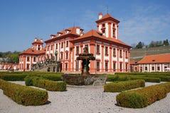Particolare del castello di Troja a Praga Fotografia Stock