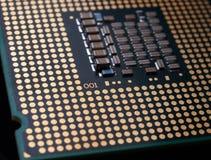 Particolare del chip del CPU Immagini Stock Libere da Diritti